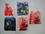 Kandinsky - Montagem com E.V.A. e gel de cabelo